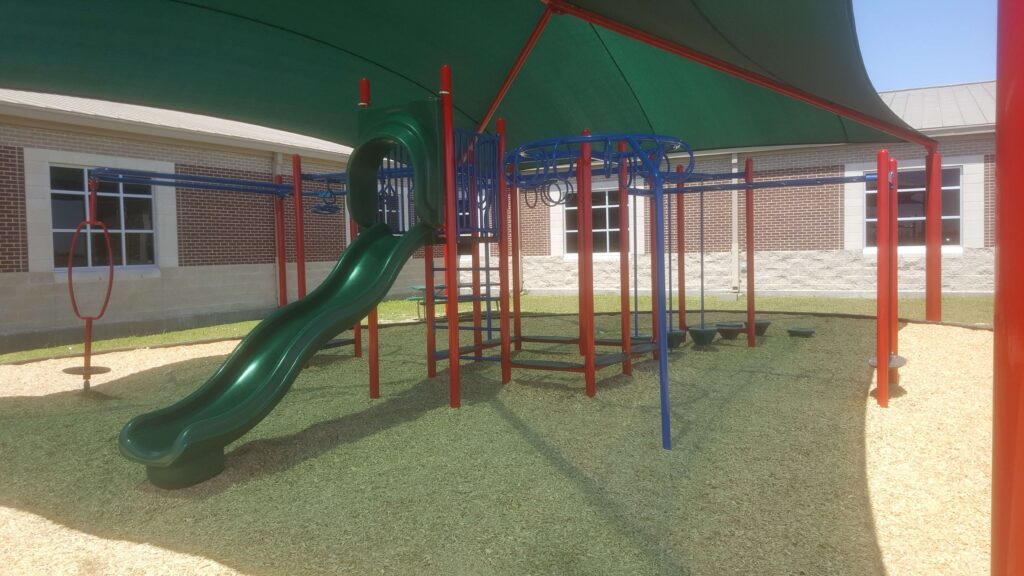 Playground with shade