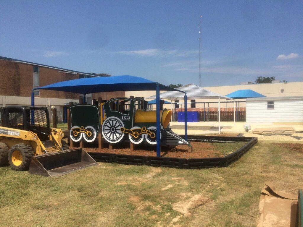 Train style playground