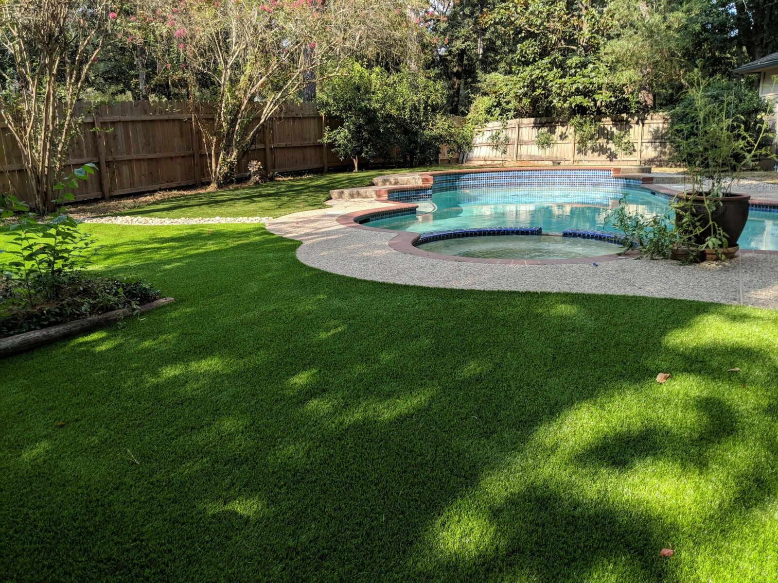 pool with grass preview