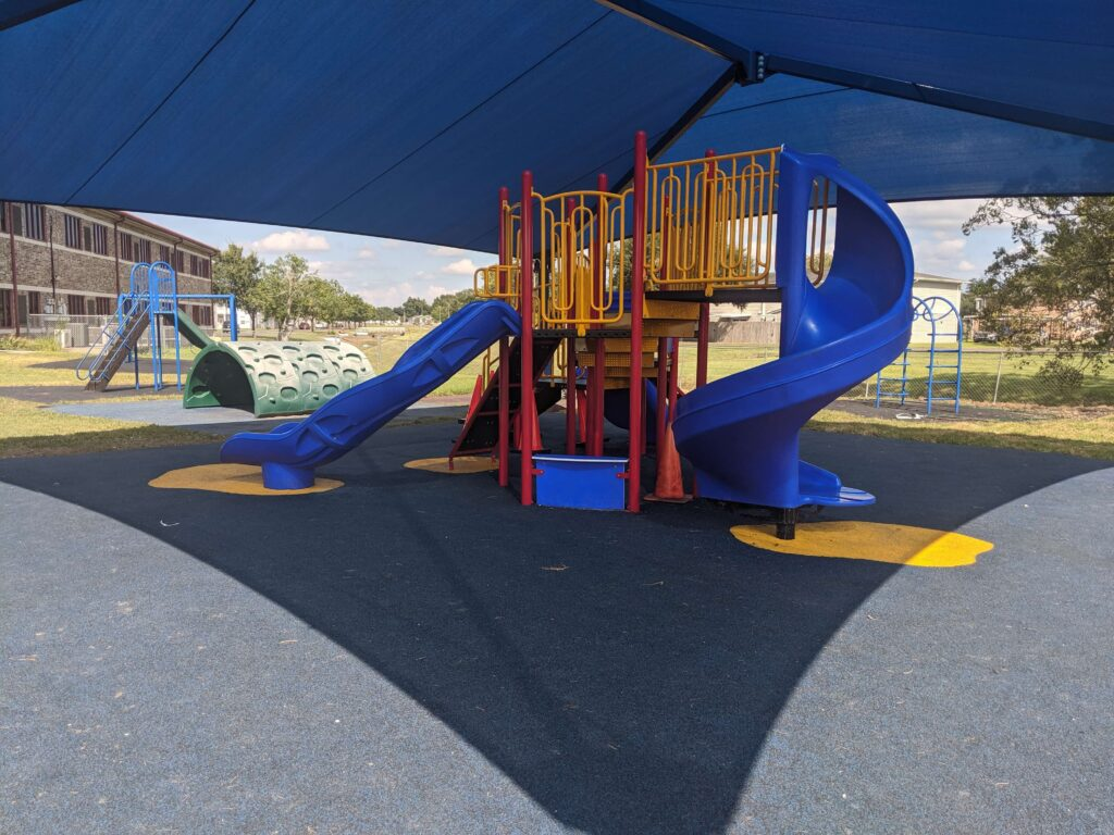 Playground with slide