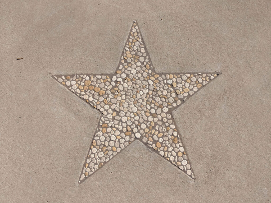 Star shape in pathway