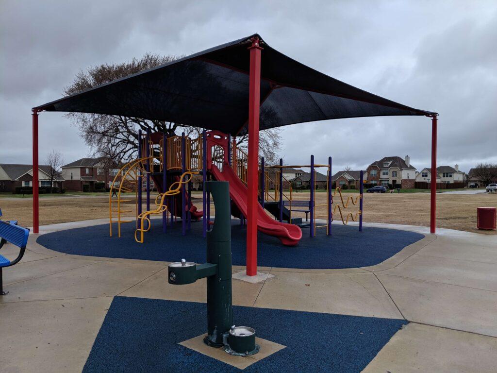 Playground with shade